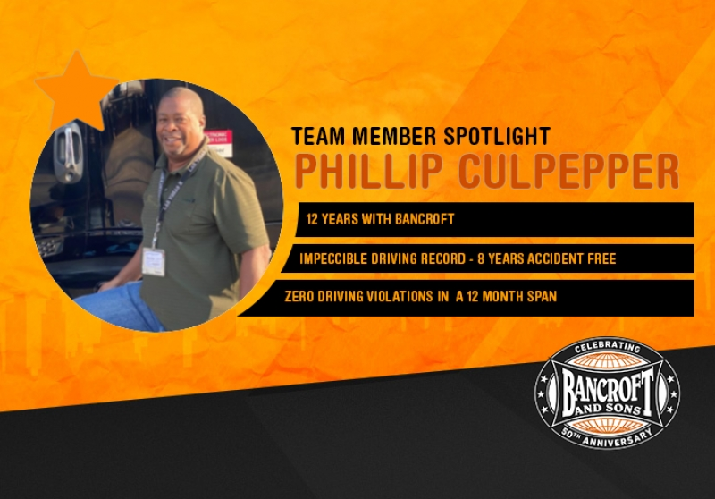 November Driver Spotlight - Phillip Culpepper